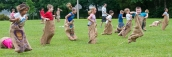 Sack race for younger children.