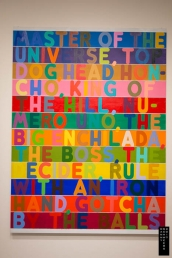 """Master of the Universe"" by Mel Bochner, 2010, in exhibition: ""Los Angeles to New York: Dwan Gallery, 1959-1971."""