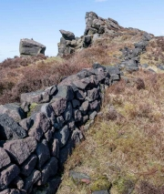 The Roaches, a rocky ridge in Peak District National Park, Staffordshire, England