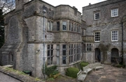 Tissington Hall exterior from rear with library lower center.