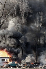 Fire in Chester County, Pennsylvania