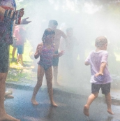 Fire hydrant spray, ACRA July 4 Games 2019, Arden, Delaware