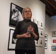 On Saturday, January 5, Alida Fish talked for over an hour answering questions about the exhibit and her own show.