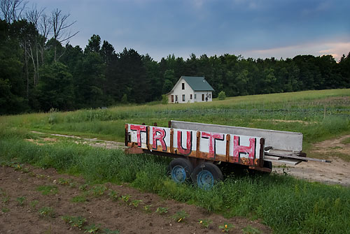 TRUTH painted on a wagon