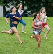 Foot race. Fastest wins.