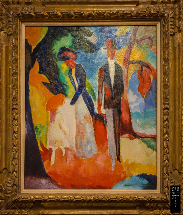 """""""People by the Blue Sea"""" by August Macke, 1913. New diamond stairways link the floors top to bottom."""