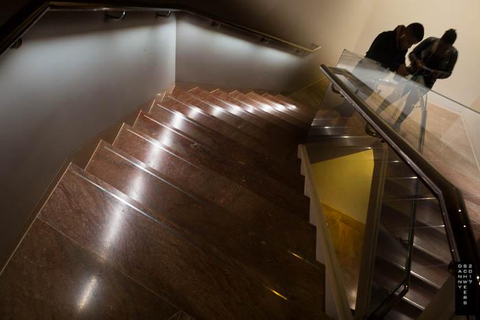 New diamond stairways link the floors top to bottom.