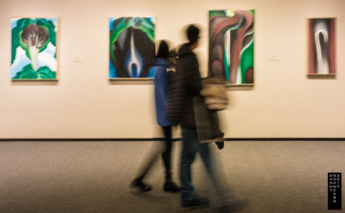 Four paintings by Georgia O'Keeffe.