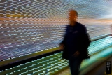 "Back thru Leo Villareal's constantly changing light installation ""Multiverse""."
