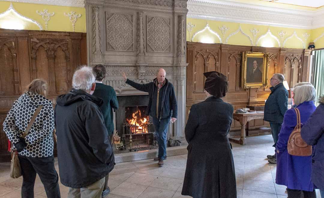 Sir Richard Ranulph FitzHerbert, 9th Baronet led us on a tour of his home.