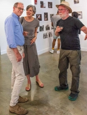 Sam Sweet, left, Executive Director of the Delaware Art Museum, one of the sponsors of the exhibit.